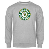 Grey Fleece Crew-Vermont Catamounts Circle