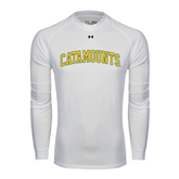 Under Armour White Long Sleeve Tech Tee-Arched Catamounts