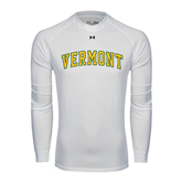 Under Armour White Long Sleeve Tech Tee-Arched Vermont