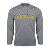 Syntrel Performance Steel Longsleeve Shirt-Arched Vermont Catamounts