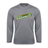 Syntrel Performance Steel Longsleeve Shirt-Slanted Vermont Catamounts