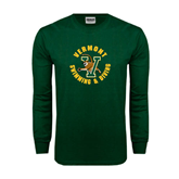 Dark Green Long Sleeve T Shirt-Swimming and Diving