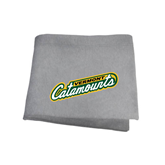Grey Sweatshirt Blanket-Slanted Vermont Catamounts