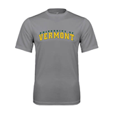 Performance Grey Concrete Tee-Arched University of Vermont
