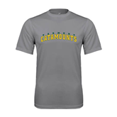 Performance Grey Concrete Tee-Arched Vermont Catamounts