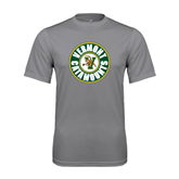 Performance Grey Concrete Tee-Vermont Catamounts Circle