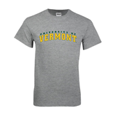 Grey T Shirt-Arched University of Vermont