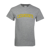 Grey T Shirt-Arched Catamounts