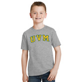 Youth Grey T-Shirt-Arched UVM