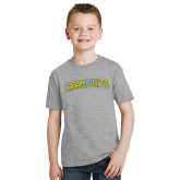 Youth Grey T-Shirt-Arched Catamounts