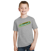 Youth Grey T-Shirt-Slanted Vermont Catamounts
