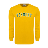 Gold Long Sleeve T Shirt-Arched Vermont