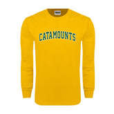 Gold Long Sleeve T Shirt-Arched Catamounts