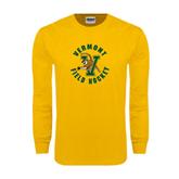 Gold Long Sleeve T Shirt-Field Hockey