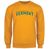 Gold Fleece Crew-Arched University of Vermont