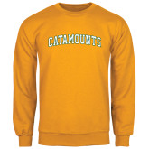 Gold Fleece Crew-Arched Catamounts