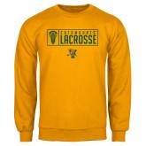 Gold Fleece Crew-Lacrosse Helmet Design