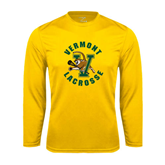 Syntrel Performance Gold Longsleeve Shirt-Lacrosse