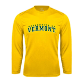 Syntrel Performance Gold Longsleeve Shirt-Arched University of Vermont