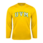 Syntrel Performance Gold Longsleeve Shirt-Arched UVM