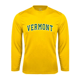 Syntrel Performance Gold Longsleeve Shirt-Arched Vermont