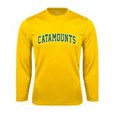 Syntrel Performance Gold Longsleeve Shirt-Arched Catamounts