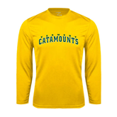 Syntrel Performance Gold Longsleeve Shirt-Arched Vermont Catamounts