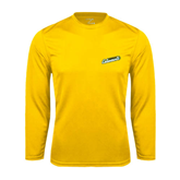 Syntrel Performance Gold Longsleeve Shirt-Slanted Vermont Catamounts