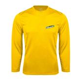 Syntrel Performance Gold Longsleeve Shirt-Slanted Vermont Catamounts
