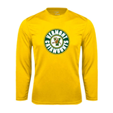 Syntrel Performance Gold Longsleeve Shirt-Vermont Catamounts Circle