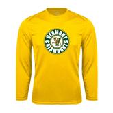 Syntrel Performance Gold Longsleeve Shirt-Vermont Catamounts Circle
