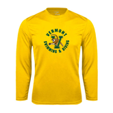Syntrel Performance Gold Longsleeve Shirt-Swimming and Diving