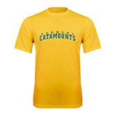 Syntrel Performance Gold Tee-Arched Vermont Catamounts