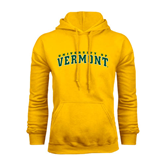 Gold Fleece Hoodie-Arched University of Vermont