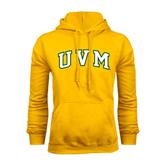 Gold Fleece Hoodie-Arched UVM