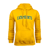 Gold Fleece Hoodie-Arched Catamounts