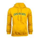 Gold Fleece Hoodie-Arched Vermont Catamounts