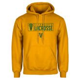 Gold Fleece Hoodie-Lacrosse Helmet Design