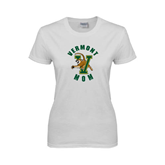 Ladies White T Shirt-Mom