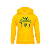 Youth Gold Fleece Hoodie-Basketball in Ball Design