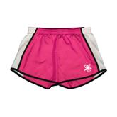 Ladies Fuchsia/White Team Short-Official Logo