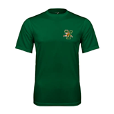 Performance Dark Green Tee-Official Logo