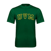 Performance Dark Green Tee-Arched UVM