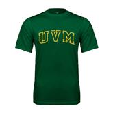 Performance Dark Green Tee-Arched UVM