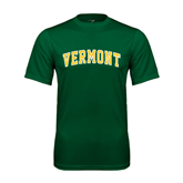 Performance Dark Green Tee-Arched Vermont