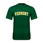 Performance Dark Green Tee-Arched Vermont