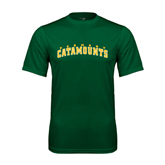 Performance Dark Green Tee-Arched Vermont Catamounts