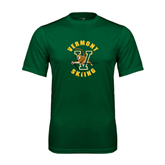 Performance Dark Green Tee-Skiing