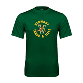 Performance Dark Green Tee-Track and Field