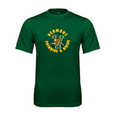 Performance Dark Green Tee-Swimming and Diving